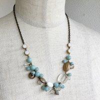 天然石アマゾナイトのネックレス