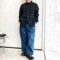 WIDE ROCKER PANTS Corduroy BLUE/STRANGE TRIP