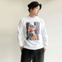 【PRICE DOWN】PSYCHE ART LS TEE WHITE/STRANGE TRIP