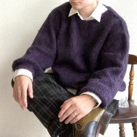 MIX MOHAIR BIG KNIT BLACK×PURPLE/STRANGE TRIP