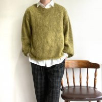 MIX MOHAIR BIG KNIT KHAKI×YELLOW/STRANGE TRIP