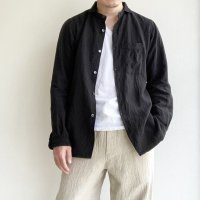【2020年6/19発売】classic frenchwork premiumlinen shirt black/DjangoAtour ANOTHERLINE<img class='new_mark_img2' src='https://img.shop-pro.jp/img/new/icons3.gif' style='border:none;display:inline;margin:0px;padding:0px;width:auto;' />
