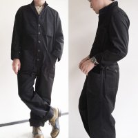 オールインワン1919チノクロス・ブラック all in one 1919 chino cloth  black/DjangoAtour ANOTHERLINE