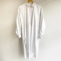 1920-1930's French Embroidered Smock Shirt White