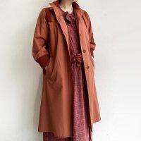 1980's French Rare Pattern Half Sleeve Coat Dark Orange