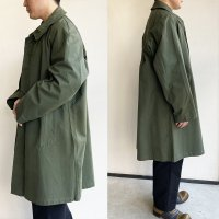 1960's Dead Stock French Military Canvas Balmacaan Coat Khaki