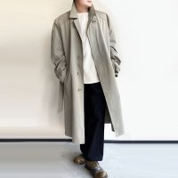 1980's Euro Oversized Trench Coat Light Grey