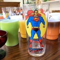 「スーパーマン」1976年製 ペプシ ノベルティタンブラー ムーンシリーズ/ブロックウェイグラスカンパニー製造