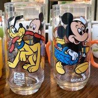 「ミッキーマウス」1980年製ペプシタンブラー ウォルトディズニーキャラクターズインピクニックシリーズ/リビー社製造