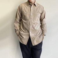 【2021年3月新作】Work Shirt,Vintage Fit Brown Covert/Workers<img class='new_mark_img2' src='https://img.shop-pro.jp/img/new/icons3.gif' style='border:none;display:inline;margin:0px;padding:0px;width:auto;' />