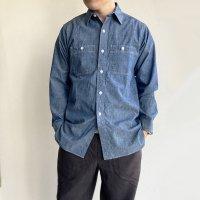 【2021年3月新作】Work Shirt,Vintage Fit Blue Chambray/Workers<img class='new_mark_img2' src='https://img.shop-pro.jp/img/new/icons3.gif' style='border:none;display:inline;margin:0px;padding:0px;width:auto;' />