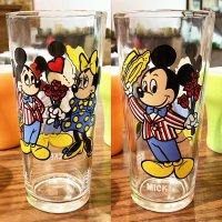 「ミッキーマウス」1977年〜1978年製 ペプシタンブラー Happy Birthday Mickey 50 Years of Magic/ブロックウェイグラスカンパニー製造