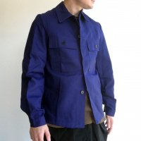 1960-1970's Dead Stock German Work Coverall Dark Blue