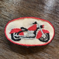 刺繍ブローチ Bike