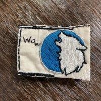 刺繍ブローチ Wolf