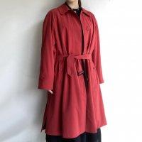 1980年代イギリス バーバリー バルマカーンコート(共布ベルト付)1980's British  Burberry Balmacaan Coat