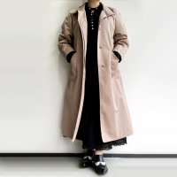 1980's U.S Stand Collar Coat by Brooks Brothers Beige