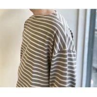【2021年9月新作】Suvin Boat neck Shirt GREY BORDER/KAPTAIN SUNSHINE<img class='new_mark_img2' src='https://img.shop-pro.jp/img/new/icons3.gif' style='border:none;display:inline;margin:0px;padding:0px;width:auto;' />