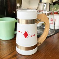 siesta ware シエスタウェア「Playing Card mug Frosted Glass」プレイングカードマグ 1950年〜1960年代製造(Sランク美品)<img class='new_mark_img2' src='https://img.shop-pro.jp/img/new/icons3.gif' style='border:none;display:inline;margin:0px;padding:0px;width:auto;' />