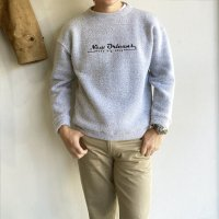 1990's U.S Logo Embroidered Pile Sweat Shirt  Heathered Grey 90年代アメリカ製パイルスウェット ヘザーグレー<img class='new_mark_img2' src='https://img.shop-pro.jp/img/new/icons3.gif' style='border:none;display:inline;margin:0px;padding:0px;width:auto;' />