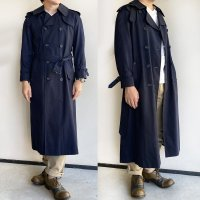 1980's Canada trench Coat by Aquascutum Navy 80年代アクアスキュータムのトレンチコート<img class='new_mark_img2' src='https://img.shop-pro.jp/img/new/icons3.gif' style='border:none;display:inline;margin:0px;padding:0px;width:auto;' />