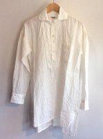 ヴィクトリアンズリネンプルオーバー オフホワイト victorians linen pullover offwhite/DjangoAtour ANOTHERLINE
