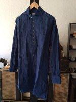 ヴィクトリアンズリネンプルオーバー スモークブルー victorians linen pullover smokeblue/DjangoAtour ANOTHERLINE