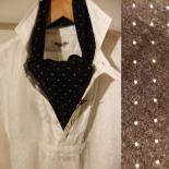 cottonlinen cravat ブラック(DJANGO ATOUR/ジャンゴアトゥール)