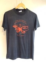 1980's Vintage Print T-Shirt Grey