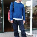 モヘアセーター ブルーグリーンSサイズ/DjangoAtourジャンゴアトゥール