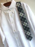 ハンド テーラード タイ マドラスチェック グリーン Hand Tailored Tie Madras,Green/Workers