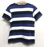 スムースボーダーTシャツ ブルー/Django Atourジャンゴアトゥール