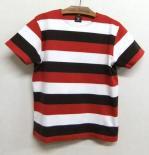 スムースボーダーTシャツSサイズ red+charcoal+offwhite(ブランド:Django Atourジャンゴアトゥール)