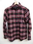 ロールカラーチェックシャツ black x red x white/DjangoAtourジャンゴアトゥール