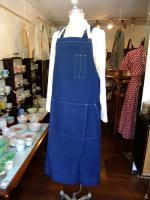 フレンチワークインディゴエプロン/frenchwork indigo apron(DjangoAtourジャンゴアトゥール)