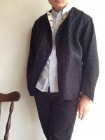 1900〜1920年代 オランダ製アンティークワークジャケット Antique Holland Work Jacket Black ×Blue