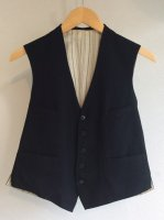 1930-1940's Vintage French Wool Vest Black