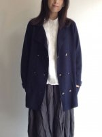 1980's Scotish Wool Knit Cardigan Jacket Navy