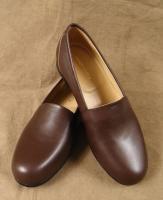 スリップオンレザーシューズブラウンslip on leather shoes brown/DjangoAtourジャンゴアトゥール