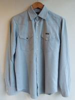 1970's Vintage Italian Wrangler Western Shirt(Saxe Blue × White)<img class='new_mark_img2' src='https://img.shop-pro.jp/img/new/icons48.gif' style='border:none;display:inline;margin:0px;padding:0px;width:auto;' />