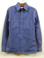 USNワークシャツ ブルーヘリンボーン USN Work Shirt, Blue Herringbone/Workers