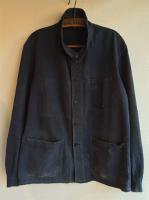 1950's French Damaged Work Coverall Black