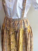 バラ柄パッチワークつりスカート(黄色系)商品番号P0112FS35/PINKHOUSEピンクハウス