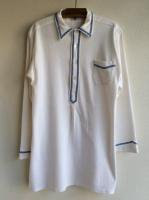1960-1970's German Long Shirt White × Blue(ドイツ)