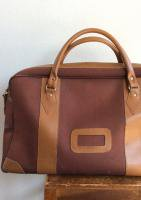 1960-1970's BritishCanvas Boston Bag Redish Brown(イギリス)
