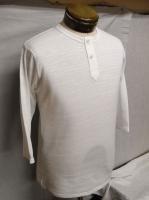 ヘンリーネックTシャツ white HENLEY 2B Q/S TEE 2014/DjangoAtour<img class='new_mark_img2' src='https://img.shop-pro.jp/img/new/icons48.gif' style='border:none;display:inline;margin:0px;padding:0px;width:auto;' />
