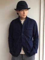 クラシックフレンチインディゴサックコート classique french indigosackcoat/DjangoAtourアナザーライン