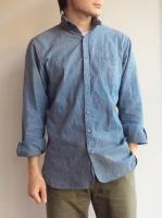 ラウンドカラーボタンダウンシャンブレーシャツ roundcollar b.d. chambray shirt/DjangoAtour