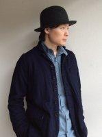フェルトハット ミックスブラック felt hat  mixblack size-3(60cm前後対応)/DjangoAtour