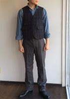 4ポケットパンツ グレーフランネル 4 Pocket Pants,Gray Flannel/Workers K&TH<img class='new_mark_img2' src='https://img.shop-pro.jp/img/new/icons48.gif' style='border:none;display:inline;margin:0px;padding:0px;width:auto;' />